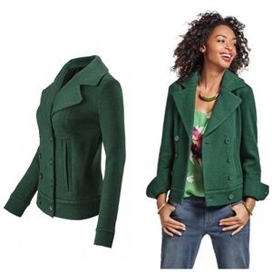 CABI LIKE NEW Sweater Peacoat Emerald Green Small